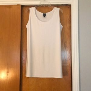 Tunic length sleeveless top